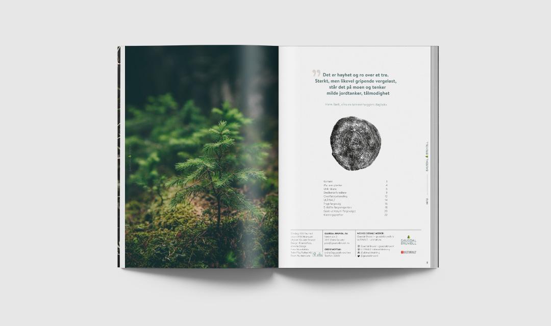 ohHello Design Project | Design av kledningsbrosjyre Gausdal Bruvoll