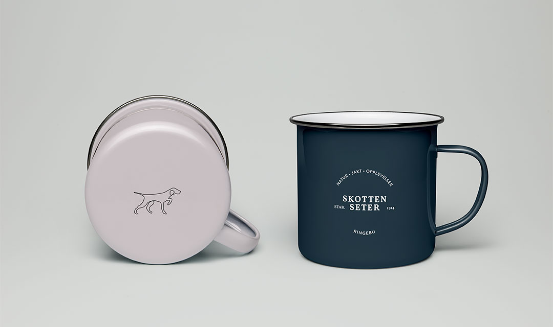 ohHello Design Project | Skotten Seter Identity - design cup