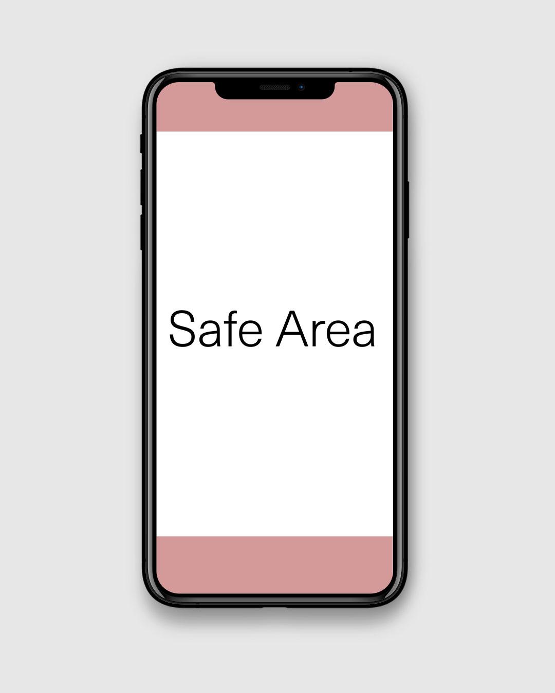 iPhone X Safe Area vertikal