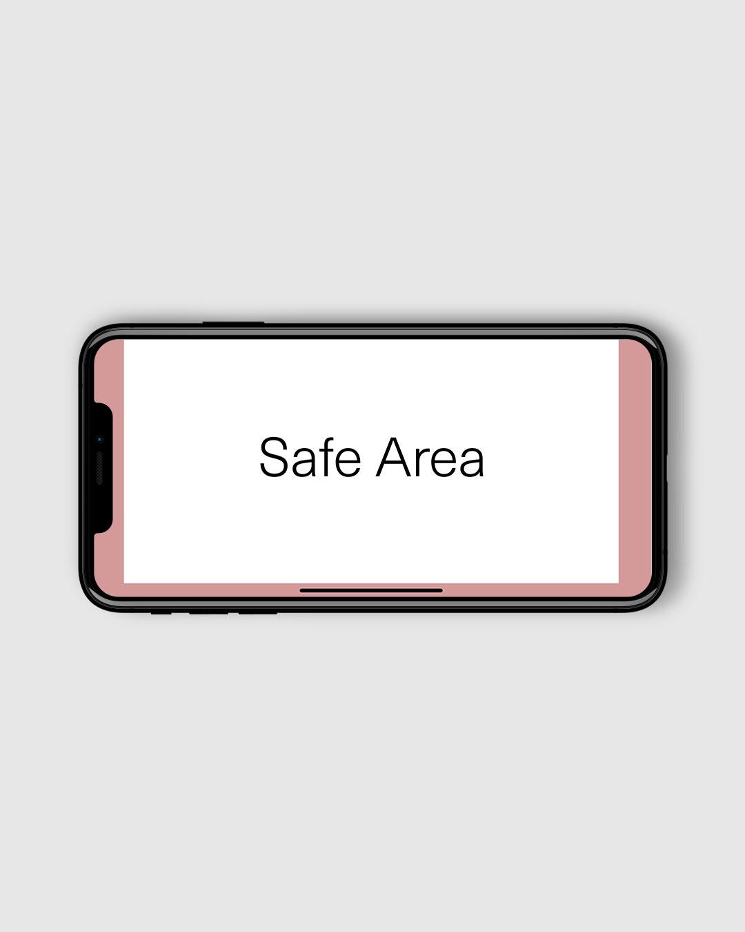 iPhone X Safe Area horisontal