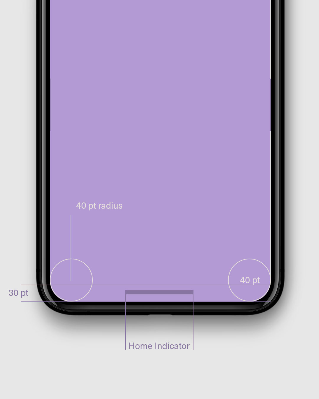iPhone X Home indicator