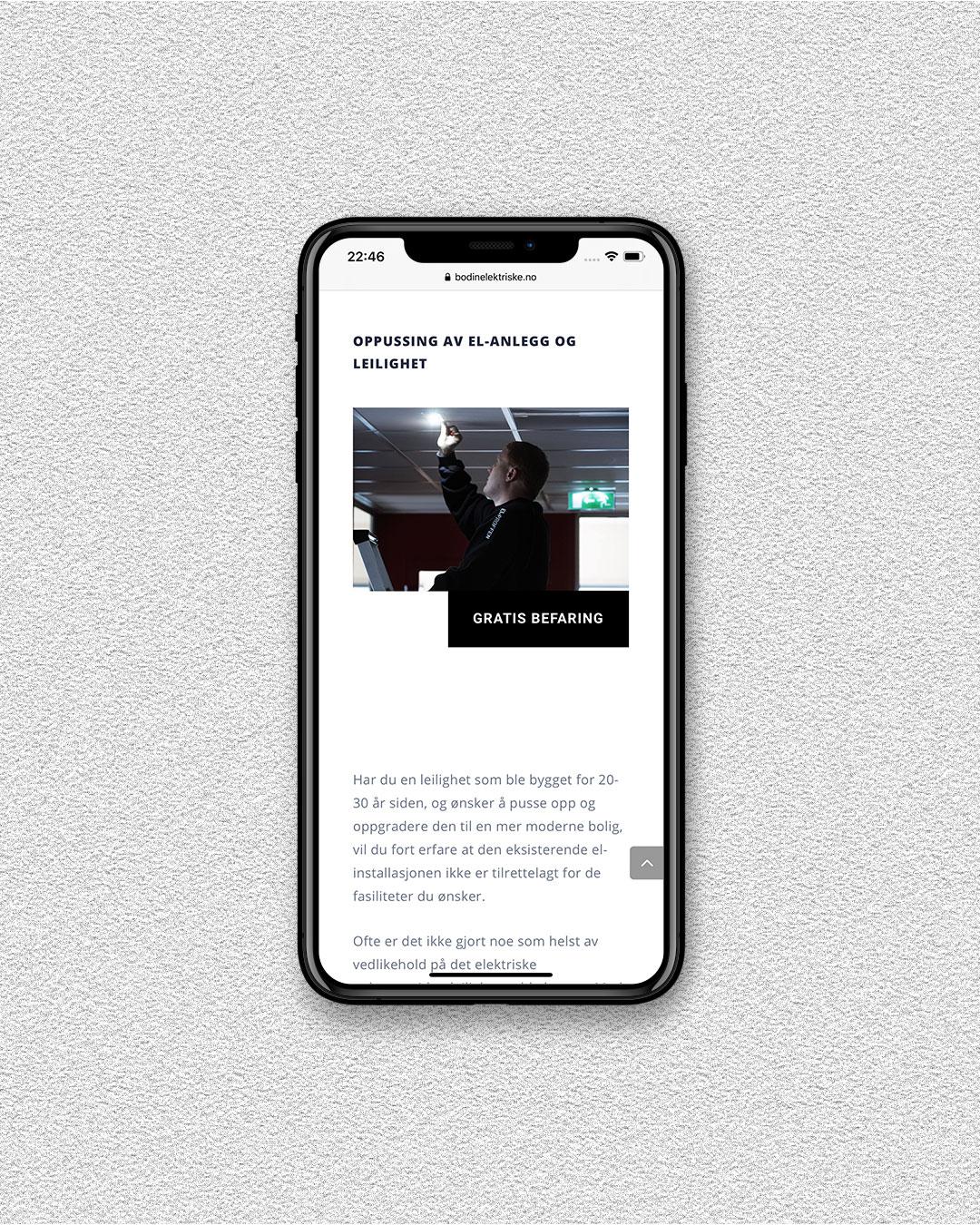 ohHello Design Project | Webside | Bodin Elektriske